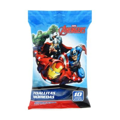 Toallitas Húmedas Antibacteriales Avengers 10 unidades
