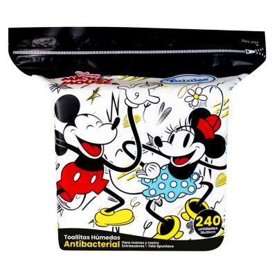 Toallitas Húmedas Antibacteriales Mickey & Minnie 240 unidades