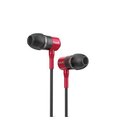 Audífono Intrauditivo HV-L670 Metal Rojo
