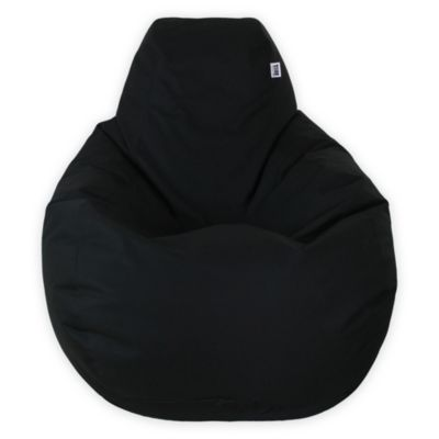 Puff Pera L Loneta Impermeable Negro