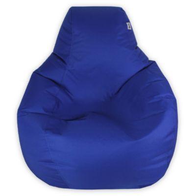 Puff Pera L Loneta Impermeable Azul