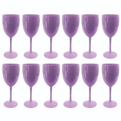 Set de 12 Copas de Vino Lila
