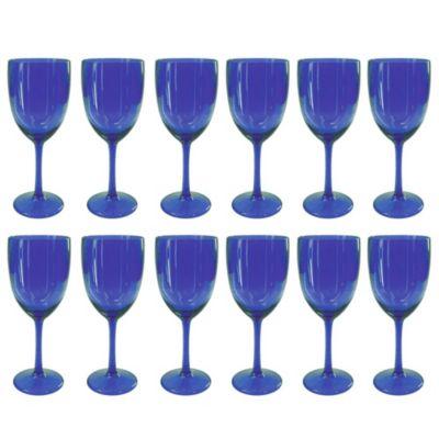 Set de 12 Copas de Vino Azul