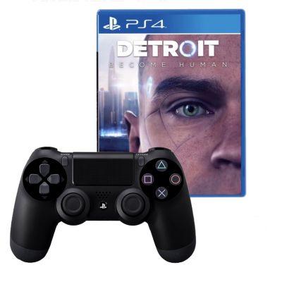 Mando PS4 Dualshock Negro + Videojuego Detroit Become Human