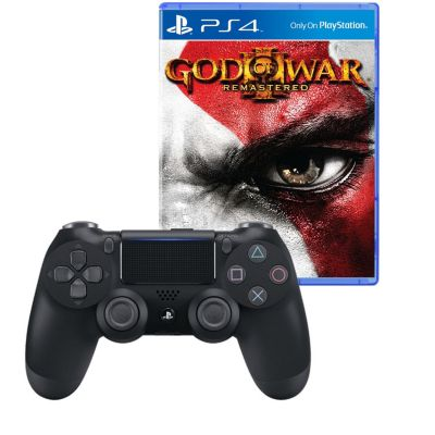Mando PS4 Dualshock Negro + Videojuego God Of War 3 Remaster