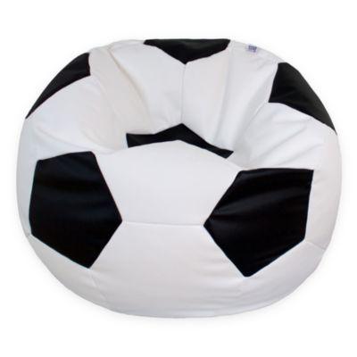 Puff Balón de Fútbol Grande
