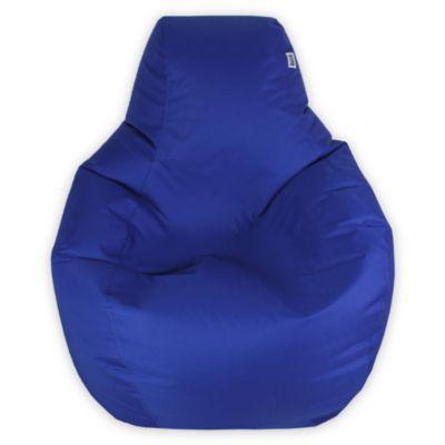 Puff Pera M Loneta Impermeable Azul