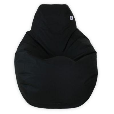 Puff Pera M Loneta Impermeable Negro
