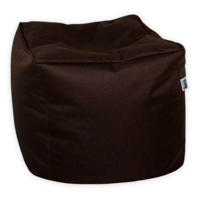 Puff Cubo Loneta Impermeable Marrón