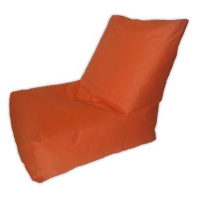 Puff Sillon Loneta Impermeable Naranja