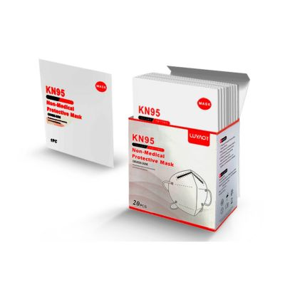 Pack de 20 Mascarillas KN95 Blancas