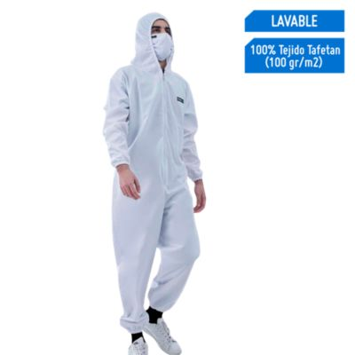 Overol Lavable  Eco Blanco Talla L