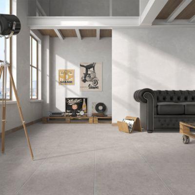 Cerámica Bioko Act Cinza Gris Liso 45x45 cm para piso y pared