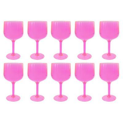 Set de 10 Copas de Gin Rosado Traslúcido