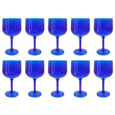 Set de 10 Copas de Gin Azul Traslúcido