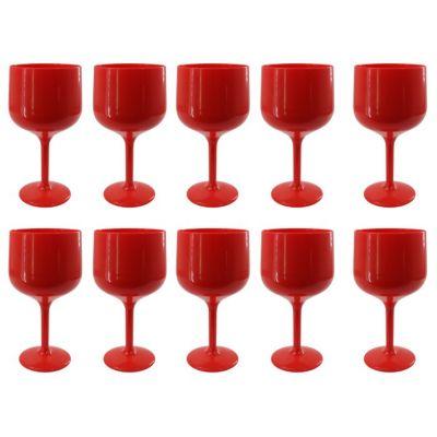 Set de 10 Copas de Gin Rojo Sólido