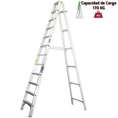 Escalera Tijera Aluminio Simple Ascenso Industrial12 Pasos