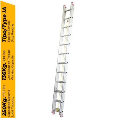 Escalera Telescópica de Aluminio 24 pasos