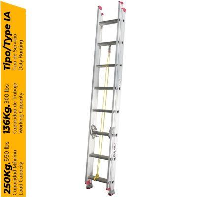 Escalera Telescópica de Aluminio 16 Pasos