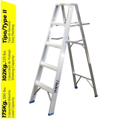 Escalera Tijera Aluminio 4 Pasos Simple Ascenso