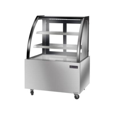 Vitrina Refrigerada Vidrio Curvo Acero Inoxidable VRD-1250AI