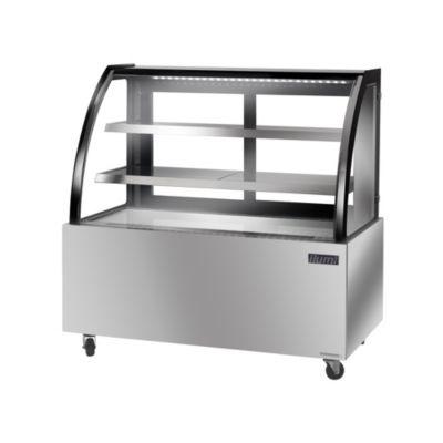 Vitrina Refrigerada Vidrio Curvo Acero Inoxidable VRD-1000AI