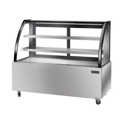 Vitrina Refrigerada Vidrio Curvo Acero Inoxidable VRD-1500AI