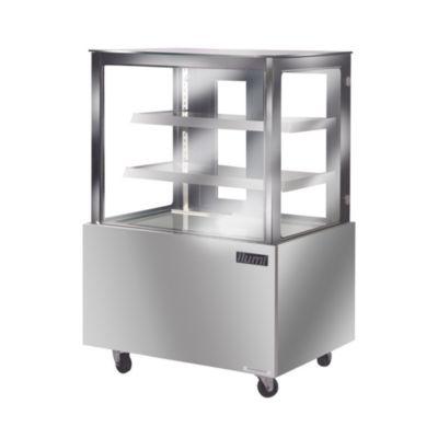 Vitrina Refrigerada Vidrio Plano Acero Inoxidable VRF-1000AI
