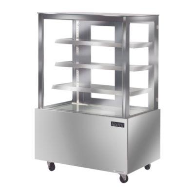 Vitrina Refrigerada Vidrio Plano Acero Inoxidable VRFH-1250AI