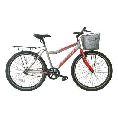 """Bicicleta Monarette Master City Aro 26"""" Gris Rojo"""