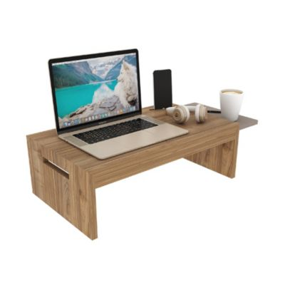 Mesa para Laptop fija de Melamine Gales/Taupé