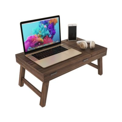 Mesa para Laptop plegable de Melamine Pino/Nogal