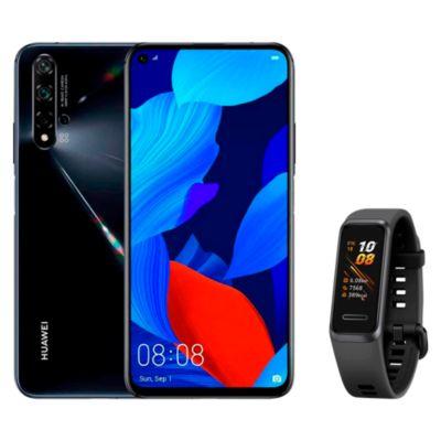 "Huawei Nova 5T 6.2"" 128GB 6GB Negro + Smartband Band Andes 4 Blanco"