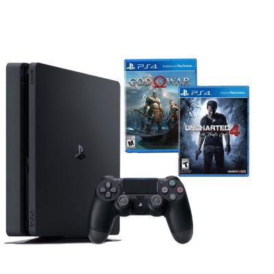 Consola PS4 Slim 1Tb + Videojuego God Of War 4 + Videojuego Uncharted 4