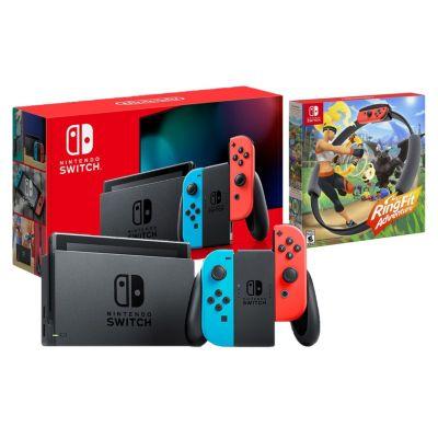Consola Nintendo Switch + Videojuego Ring Fit Adventure