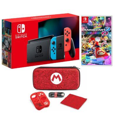 Consola Nintendo Switch + Videojuego Mario Kart 8 + Estuche Mario