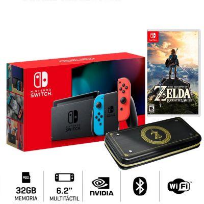 Consola Nintendo Switch + Videojuego Zelda Botw + Estuche