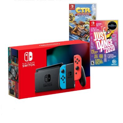 Consola Nintendo Switch + Videojuego Just Dance 2020 + CTR