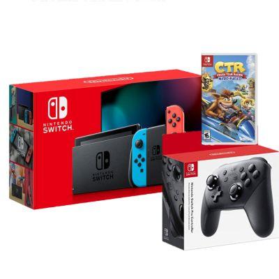 Consola Nintendo Switch + Pro Controller + Videojuego CTR