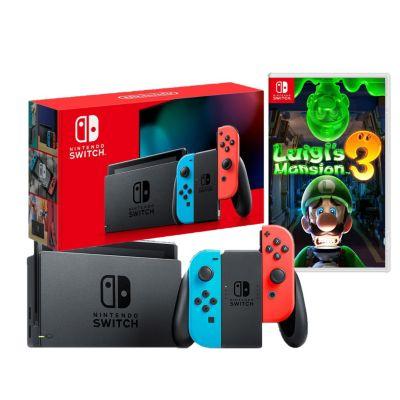 Consola Nintendo Switch + Videojuego Luigis Mansion 3