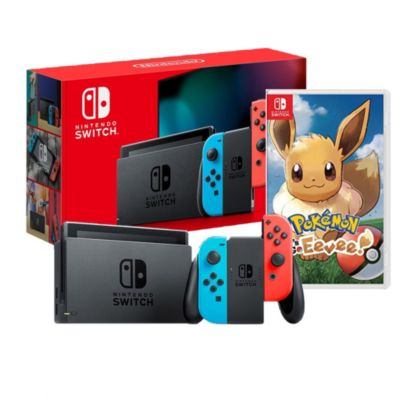 Consola Nintendo Switch + Videojuego Pokemon Lets Go Evee