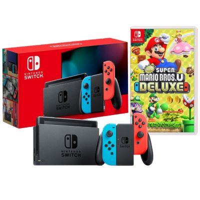 Consola Nintendo Switch+ Videojuego Super Mario Bros U Deluxe