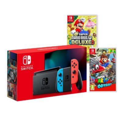Consola Nintendo Switch + Videojuego Mario Odyssey + Videojuego Mario Bros