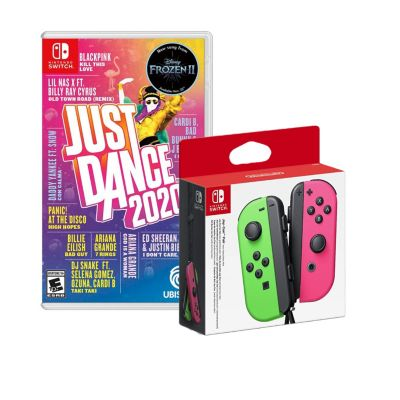 Videojuegos para Nintendo Switch Joy Con Rosa Y Verde + Just Dance 2020