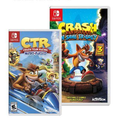 Videojuegos para Nintendo Switch Crash Bandicoot Trilogy + CTR