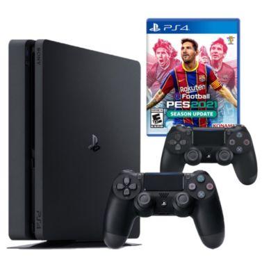Consola PS4 Slim 1Tb + Mando + Videojuego PES2021