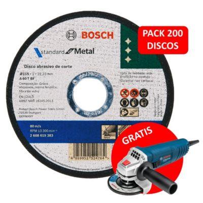 "Super Pack 200 Discos de Corte 4-1/2"" Standard Metal"