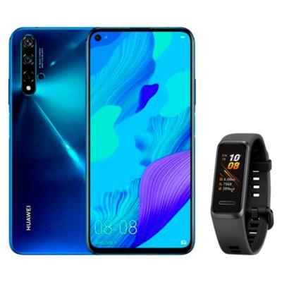 "Huawei Nova 5T 6.2"" 128GB 6GB Azul + Smartband Band Andes 4 Blanco"