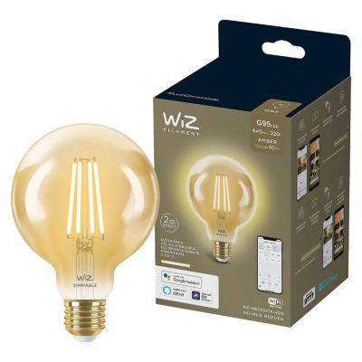 Foco Led Filament Wiz Wifi G95 E27 6.9W Luz Calida Ajustable