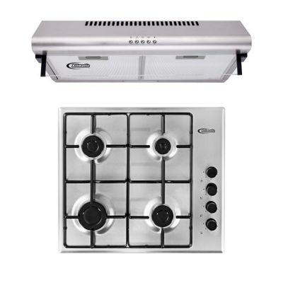 Combo Cocina Empotrable 4 Hornillas CEKT600IX + Campana de 60 Cm CK601IX